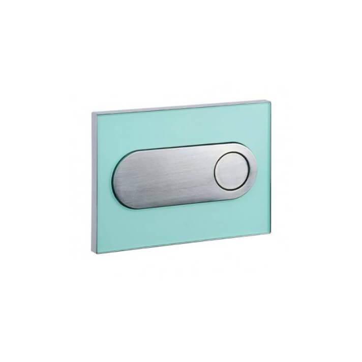 Placa de acionamento vidro verde MOON- Unisan Sanindusa