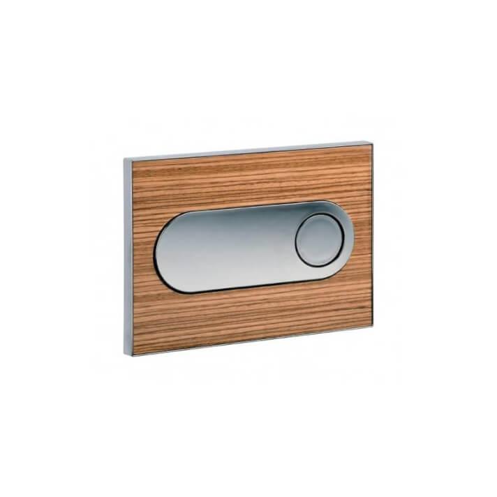 Plaque de chasse chromée cadre couleur bois de Zebrano MOON Sanindusa