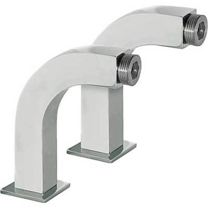 Raccordo a gomito adattatore per bagno o doccia quadrato