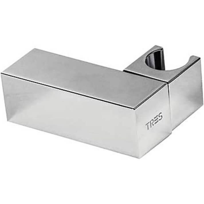 Soporte orientable cuadrado para ducha latón TRES
