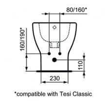 Bidé a suelo y a pared TESI Ideal Standard