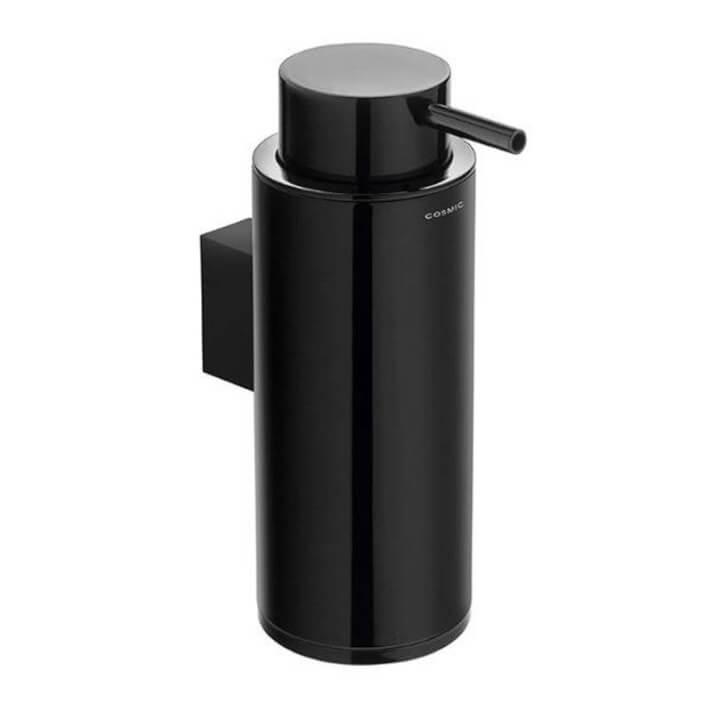 Distributeur de savon mural noir COSMIC