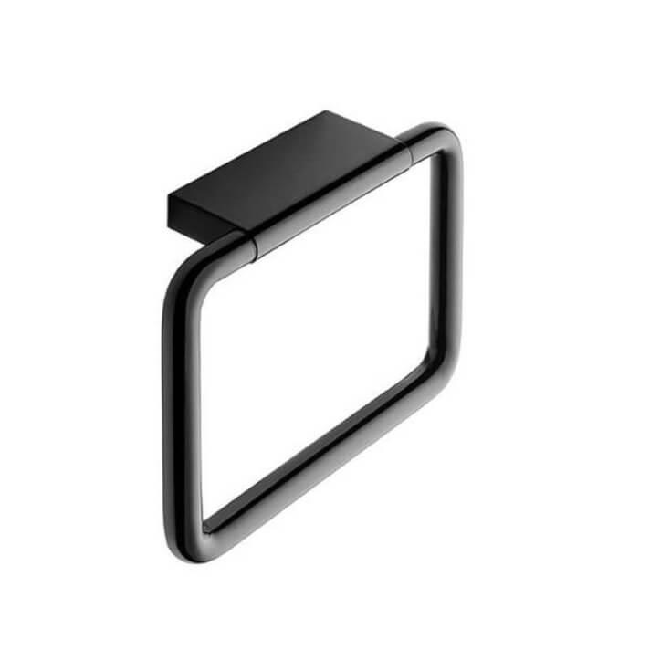 Porte-serviettes anneau noir COSMIC