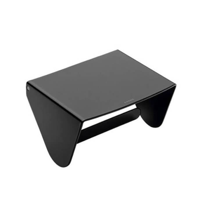 Porta carta igienica nero con coperchio COSMIC