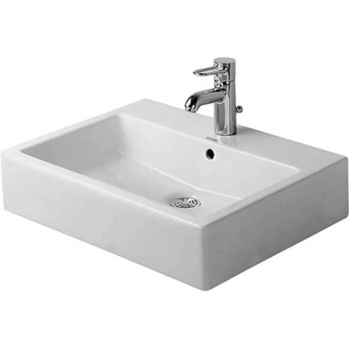 Vasque sur plan avec trop-plein 59 Vero DURAVIT