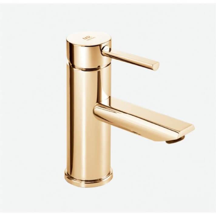 Grifo monomando lavabo oro Delta 13