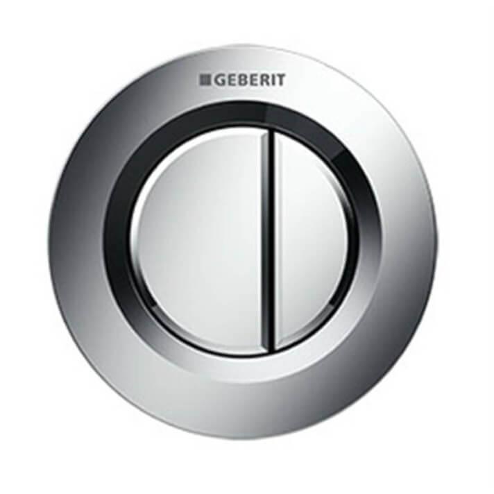Pulsador Geberit01 Cromado Brillante cisterna 8 cm
