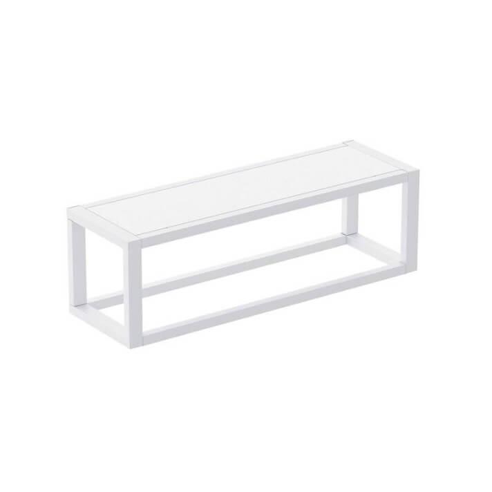 Toallero con estante blanco the grid COSMIC