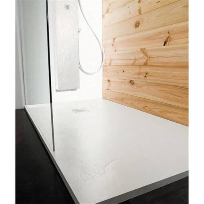 Plato de ducha Natural Pizarra Blanca b10
