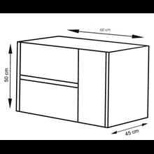 Mueble con lavabo 60 Blanco brillo Ítaca TEGLER