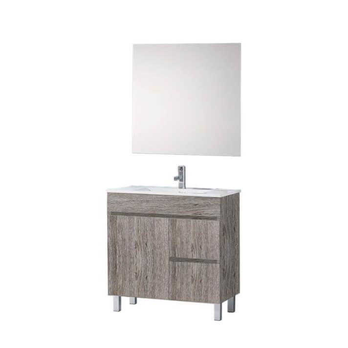 Mueble con lavabo 60 Roble Smoky Ísquia TEGLER