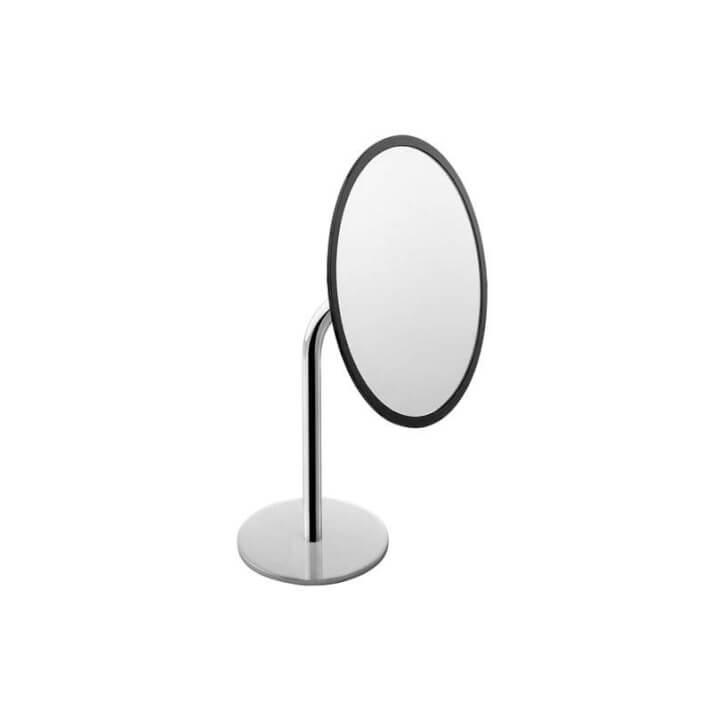 Miroir grossissant noir-chromé COSMIC